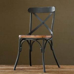 China Iron Wood Furniture Iron Wood Dining Chair Restaurant Chair on sale