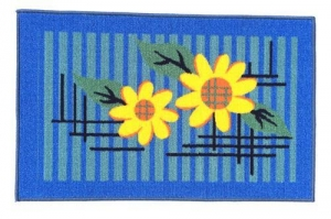China printed door mat sunflowr on sale
