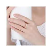 Fashion Jewelry S925 sterling silver plated real gold wave twist set diamond ring