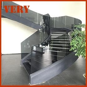 China Curved Stair Product Name:Black Marble Stair on sale