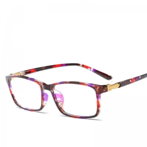 China New TR90 Spectacle Frame Glasses Myopia Glasses Frame Ultra Light TR Flat Lens Retro Blue film on sale