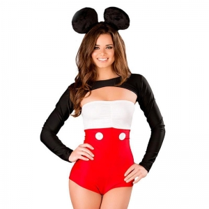 China Special Offer Mickey Show Uniforms Three-piece Long-sleeved Shrug-strapped Chest wrapped on sale