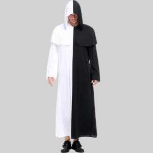 China Couple black and white impermanence ghost cosplay clothing Halloween ghosts costum Fun suit Female on sale