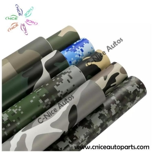 China Camouflage Car Wrap Vinyl Film bubble free with imported removable glue 1.52x30m/roll on sale