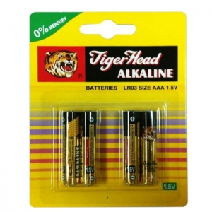 China Original Tiger Head Brand Alkaline LR03 3666 AM-4 AAA Size Battery on sale