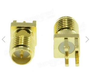 China RP-SMA Female Adapter PCB EdgE-mount Solder RF Connector for RC Drone FPV Racing on sale