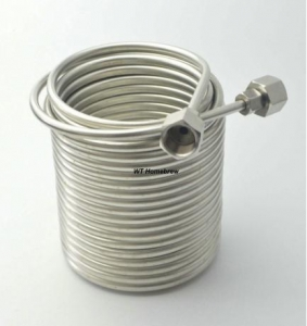 China Stainless Steel Coil Tube Immersion Wort Chiller Beer Cooler Home Beer Brew Heat Exchanger on sale