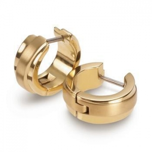 China indian yellow gold plated small hoop earrings for men on sale