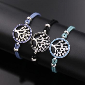 China fashion jewelry shop popular infinity unique rope stretch tree of life jewelry bracelets for women on sale