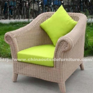 China Outdoor Dining Woven Rattan Sofa Chair on sale