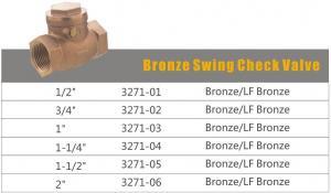 China Bronze Swing Check Valve (3271) on sale