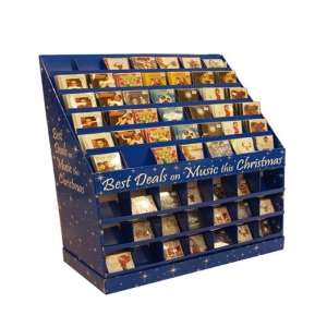 China Store Advertising Merchandising Dvd Sale Sidekick Cardboard Movie Display Stand on sale