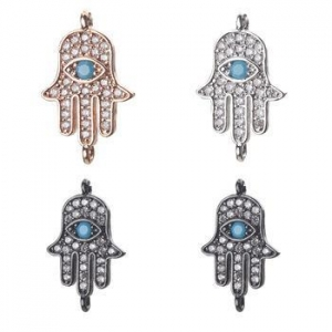 China Evil Eye Cubic Zirconia Charms Jewelry Accessories For Women diy Bracelet & Bangle Gift on sale