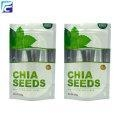 China Foil chia seed packaging bags with clear window on sale