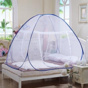 China pop up foldable mosquito net tent with aluminum metal folding frame stand for double bed on sale