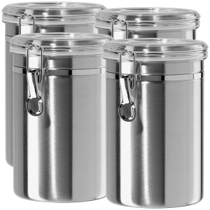 China Dailyart Stainless Steel Canister Set with Locking Clamp CCJ0002 on sale
