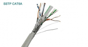 China Network cable Cat6a SSTP stranded Cable on sale