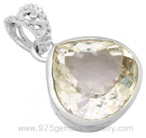 China Real Gemstone Silver Crystal Pendant on sale