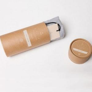 China custom logo kraft paper socks packaging tubes on sale