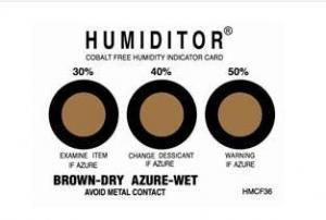 China RH5% - 90% Warning Humidity Indicator Card on sale
