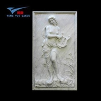 China Hand Carved Decorative Wall Nude Woman Relief Sculptures on sale