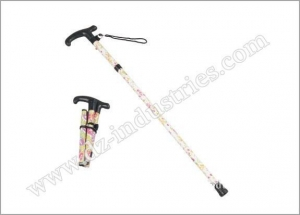 China DZ1017 *Floral foldable walking cane on sale