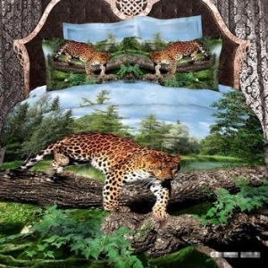 China 3D animal photo print comforter set Polyester microfiber reactive printing bedding set BDS1167 on sale