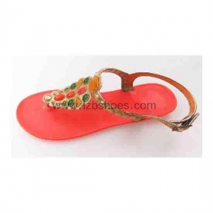 China pv136 004factory supply Fashion Roman style Flat PVC Summer Sandal For Women and Ladies on sale