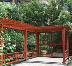 China Garden Pergola With Planters on sale