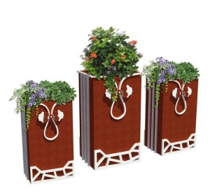 China Tall Outdoor Ceramic Planters on sale