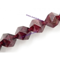 China Garnet beads polyhedron, 6-10mm for choice, sold per strand on sale