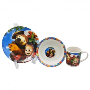China Selling well cartoon Olaf decals ceramic dinnerware sets on sale