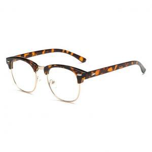 China Leopard Half-Rim Eyeglasses Frame on sale