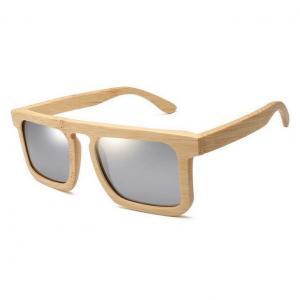China Square Frame Bamboo Sunglasses on sale