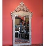 China Wall Decor Style no. M473 - Mother of pearl mirror. on sale