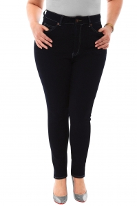 China Filter 360 Stretch High Rise Ultra Skinny Denim Jeans (Jeggings) in Black Onyx on sale