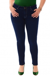 China Filter 360 Stretch Mid Rise Ultra Skinny Denim Jeans (Jeggings) in Blue Depths on sale