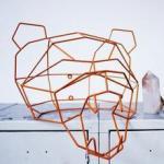 decor Polar Bear Geometric Animal Head