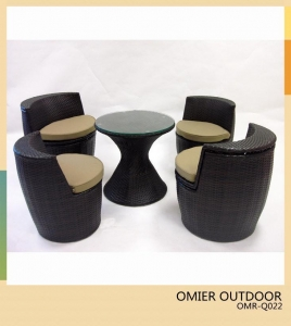 China Stackable outdoor furniture Woven Rattan/wicker garden Set OMR-Q022 on sale