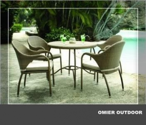 China rattan/wicker garden party table and chairs for sale OMR-G033 on sale