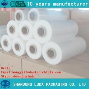 China Strong flexible PE plastic hand stretch film jumb roll on sale