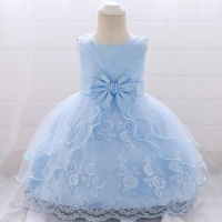 China Wholesale Children's Clothes Summer Design First Birthday Communion Smoked Baby Dress L1869XZ on sale