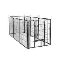 Sliver Black Steel metal Tube large outdoor dog house kennels
