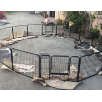 6 pieces iron panels wireless dog fence crate
