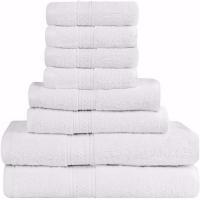 6 piece bathroom 100% cotton hotel bath towel set