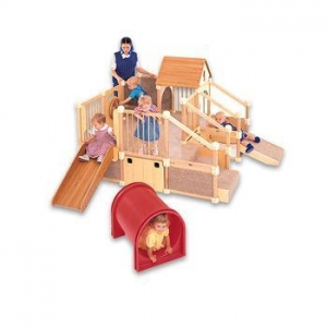 China Kindergarten Furniture Kids Wooden Equipments Indoor Playground on sale