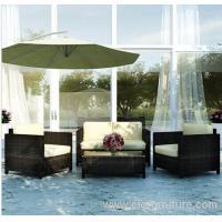 4 Piece Pc PE Wicker Outdoor Sofa Lounge Table Furniture Set Setting
