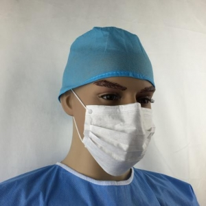 China Head Protection Series Doctor's cap with elastic band on sale