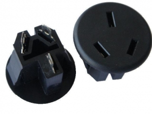 China Round Australian AC Electric Power Sockets , Electrical Wall Plugs For Office / Home on sale