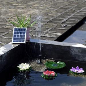 China Solar Power Fountain Pool Water Pump Garden Plants Watering Kit Solar Pond Pump Kit 9V 2W on sale